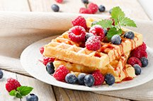 Waffles at the Riverview